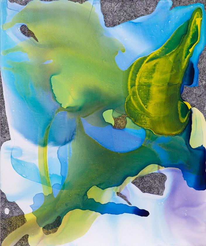 120 x 100 cm, Acrylic ad ink on linen, 2015